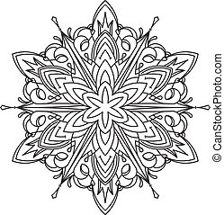 bstract vector round lace design - mandala, decorative element