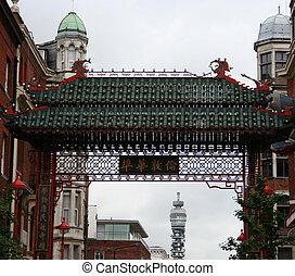 bt, chinatown, アーチ, ロンドン, タワー
