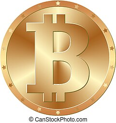btc - golden bitcoin - cryptocurrency