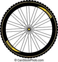 btt, bicikli, gördít, rajzol