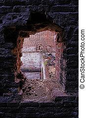 bu, 3, antiguo, -, ruinas