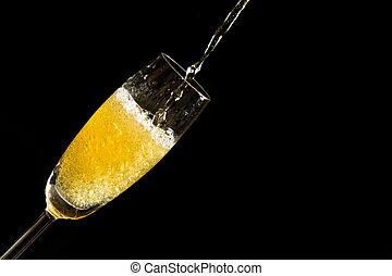 bub, たたきつける, 泡, シャンペン