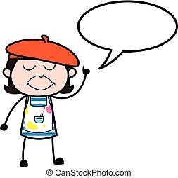 bubbble, caricatura, discurso, artista