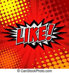 !, bubbla, anförande, komiker, tecknad film, lik