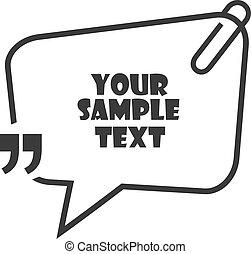 bubbla, anförande, tecknad film, vektor, text