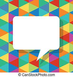 bubblar, abstrakt, anförande, mall, färgrik