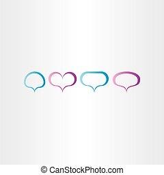 bubblar, vektor, anförande, ram, sätta