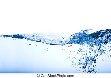 Bubble and Wave - A water background image of bubbles and...