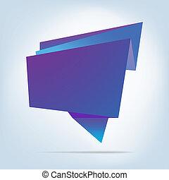 bubble., astratto, eps, discorso, 8, origami