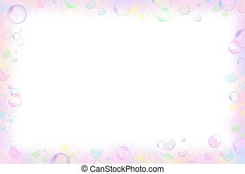 Bubble Border - Pastel border on a white background.