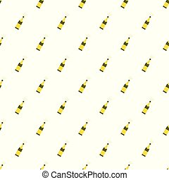 Bubble champagne pattern seamless vector