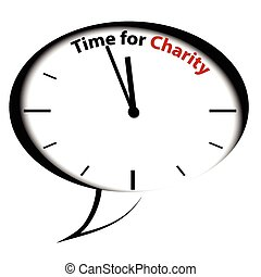 Bubble clock-Time for Charity, vector