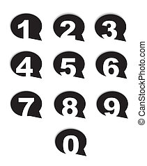 bubble conversation numbers icons