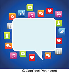 Bubble dialog social media