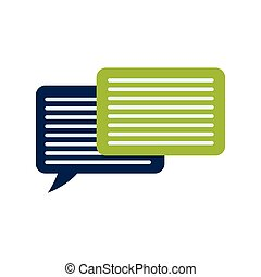 bubble email message mail communication icon. Vector graphic