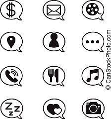bubble for social network application icons