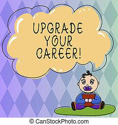 bubble., grado, foto, segno bianco, pacifier, tuo, nuvola, aggiornamento, ottenere, aumento, colorare, libro, discorso, soldi, concettuale, seduta, esposizione, tappeto, bambino, migliorare, career., lavoro, testo, posizione