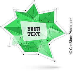 bubble., grand, triangulaire, illustration, polygonal, vecteur, branché
