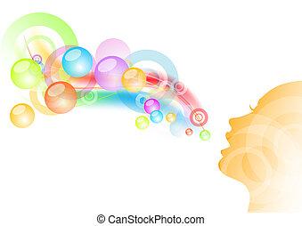 bubble gum - girl and bubble gum background