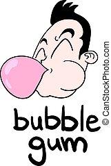 bubble gum illustration - Creative design of bubble gum...