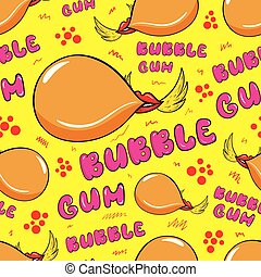 Bubble gum seamless texture - Seamless texture with winged...