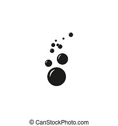 Bubble icon isolated on white background. Vector art.