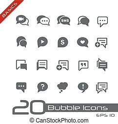 Bubble Icons // Basics