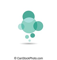 Bubble logo vector icon