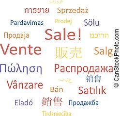 bubble:, sale., étiquette, parole, ou, nuage