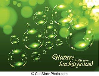 Bubble soap background