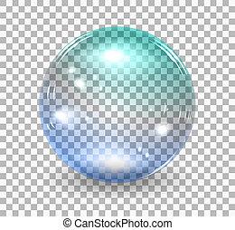 Bubble soap - Transparent soap bubble. realistic ...