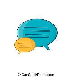 Bubble speech icon, cartoon style
