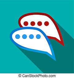 Bubble speech icon, flat style