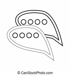Bubble speech icon, outline style