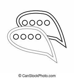 Bubble speech icon, outline style