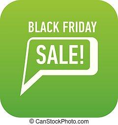 Bubble speech sale black friday icon, simple style