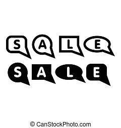 Bubble speech sale icon, simple style