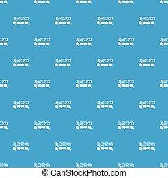 Bubble speech sale pattern vector seamless blue