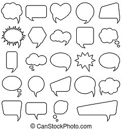 Bubble speech set. Different shapes