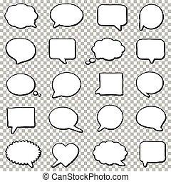 Bubble speech set - Hand drawn bubble speech set on a ...