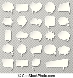 Bubble speech set. Various empty shapes