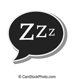 bubble speech sleep design vector illustration eps 10