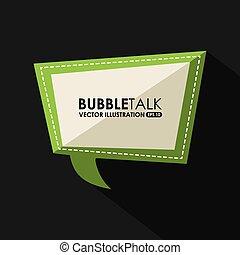 bubble talk design, vector illustration eps10 graphic