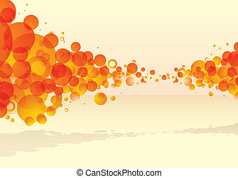 orange bubble explode with subtle background and shadow