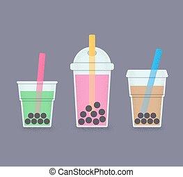 Bubble tea glasses set