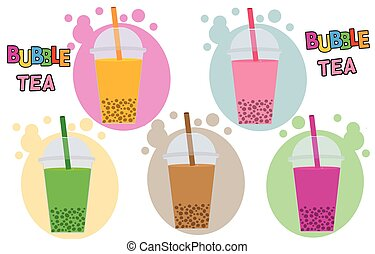 Bubble Tea or Tea Cocktail set