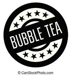 bubble tea rubber stamp