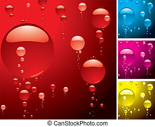 bubble variation - different color variations of a bubble...