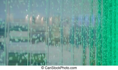 Bubble water glass green wall - Indoor interior decoration -...