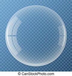 Bubble with glare icon